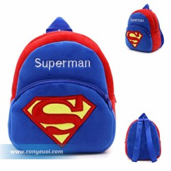 Ba lô nhung cho bé hình siêu nhân