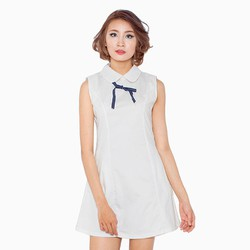 Đầm cổ peter pan trắng