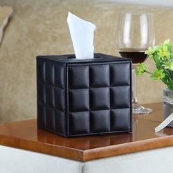 Hộp đựng khăn giấy vuông đen