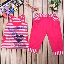 Đồ bộ mặc nhà 3 lỗ- màu hồng- size 6
