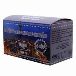 Bộ combo 5 hộp khẩu trang y tế kháng khuẩn 4 lớp HyNam - Xám