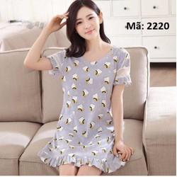 Đầm nữ mặc nhà chất cotton co giãn cao cấp Mã hàng: NG2220