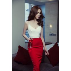 Chuyên sỉ - Đầm Ngọc Trinh ôm body kiểu hai dây thiết kế hở lưng sexy