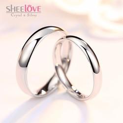 Nhẫn đôi tình yêu kiểu dáng cổ điển trơn bóng thời trang SPR-YWY020