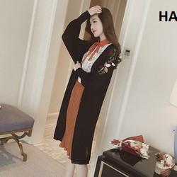Áo khoác len nhẹ cardigan nữ dáng dài, Hàng Nhập, chất đẹp