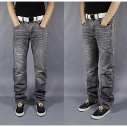 Quần jeans nam ghi mài nhẹ
