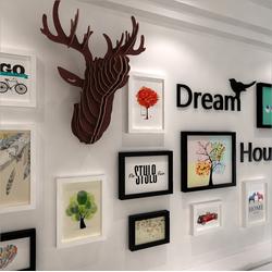 Bộ khung ảnh treo tường trang trí nhà cửa Dream House, Reindeer