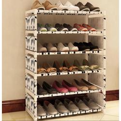 Kệ để giầy dép 6 tầng mẫu mới thời trang họa tiết BÒ Sữa