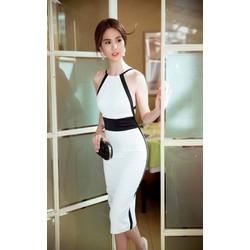 Chuyên sỉ - Đầm Ngọc Trinh ôm body thiết kế hở lưng tuyệt đẹp