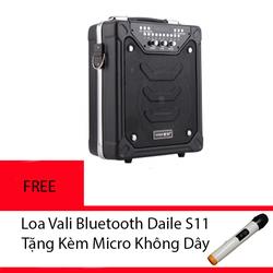 Loa Vali Bluetooth Daile S11 tặng kèm Micro không dây