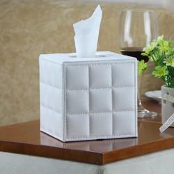 Hộp đựng khăn giấy vuông trắng