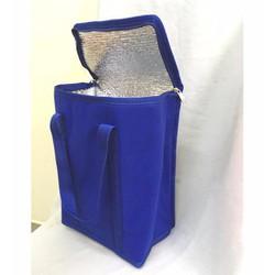 túi giữ nhiệt loại lớn hình hộp đứng 22x13x30cm vải không dệt