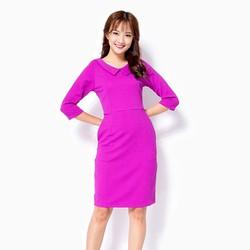 Đầm ôm khánh Linh tay lỡ màu tím  Size L