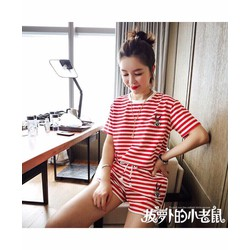 Set quần short sọc áo sọc - A31283