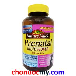 Viên uống bổ sung Vitamin cho bà bầu Nature Made Prenatal Multi+DHA