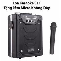 Loa vali Bluetooth karaoke DAILE S11 Tặng Kèm Micro không dây