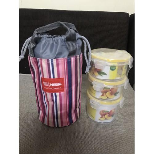 Bộ 3 hộp cơm kèm túi giữ nhiệt - 11058679 , 6741398 , 15_6741398 , 79000 , Bo-3-hop-com-kem-tui-giu-nhiet-15_6741398 , sendo.vn , Bộ 3 hộp cơm kèm túi giữ nhiệt