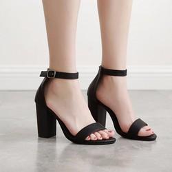 Giày cao gót quai ngang da mờ