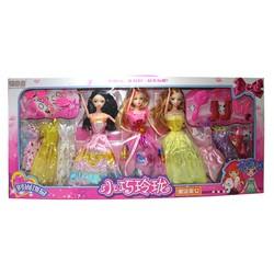 Búp bê cho bé 88009 - 3 nàng công chúa và bộ sưu tập váy sắc màu