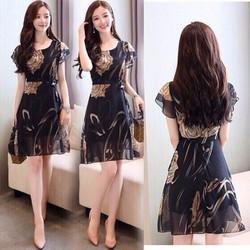 Đầm Xòe Hoa Hồng Xinh xắn