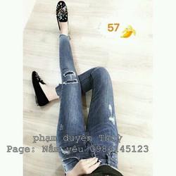 quần jean lưng cao 2 da