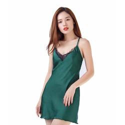 Đầm Ngủ HISEXY Viền Ren Hoa Quyến Rũ V306 - Xanh Lá