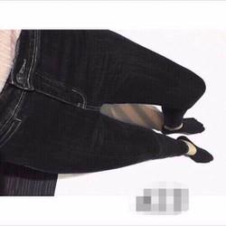 Quần jean nữ lưng cao túi mổ chất vải đẹp