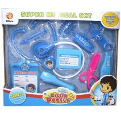 Bộ đồ chơi Bác sĩ cho bé 611-4 Super Medical màu xanh