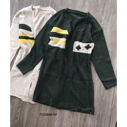 Áo khoác len phối sọc form dài tay dài ! MS: S200838  GS 160k