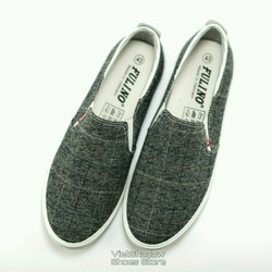 Giày lười vải - Slip on nam - Made in Vietnam - Mã SP 1822-caro