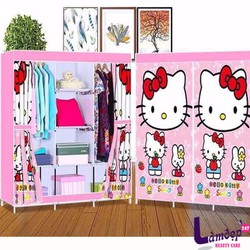 Tủ Vải Hello kitty 3 Buồng 8 Ngăn- Loại lớn