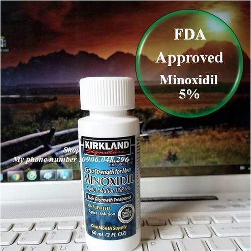 Thuốc mọc Tóc , mọc Râu Minoxidil Kirkland USA - 1 Chai - FDA Phê duyệt