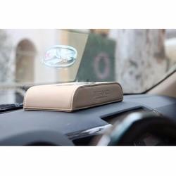 Hộp đựng khăn giấy da thật cao cấp cho xe hơi
