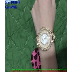 Đồng hồ đeo tay nữ mặt kính nổi đính hạt sang trọng DHI145