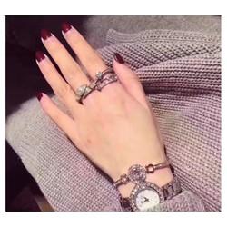 Set đồng hồ thời trang và lắc tay đá sành điệu Rose