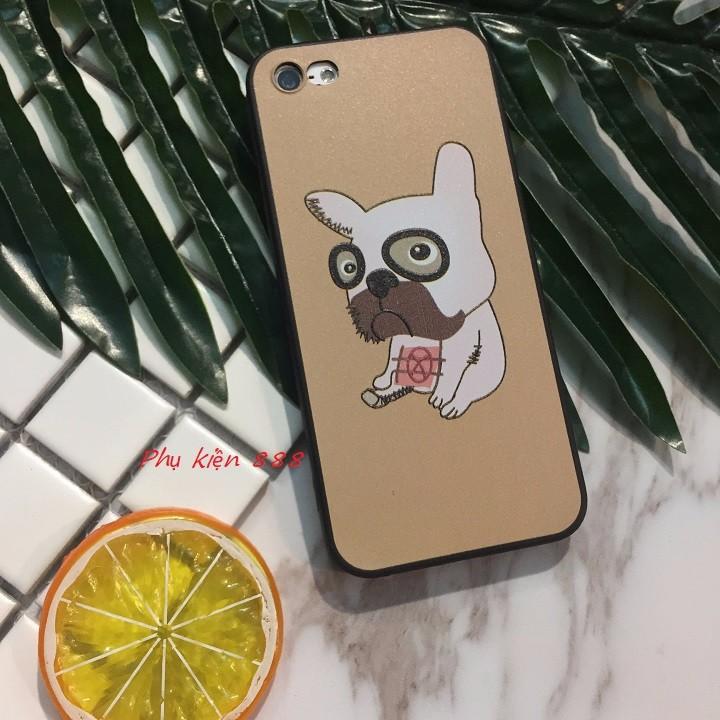 Ốp lưng Iphone 5 6 6Plus 7 7Plus hình chó pug mặt xệ 5