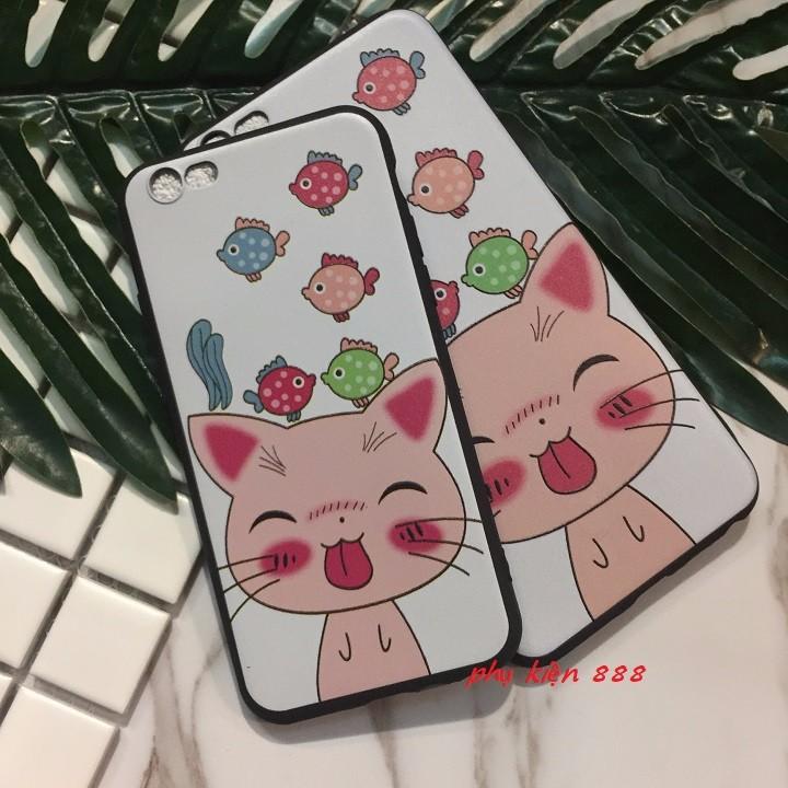 ỐP lưng Iphone 5 6 6Plus 7 7Plus mèo lè lưỡi 3