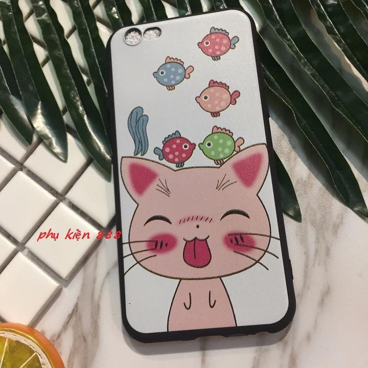 ỐP lưng Iphone 5 6 6Plus 7 7Plus mèo lè lưỡi 4
