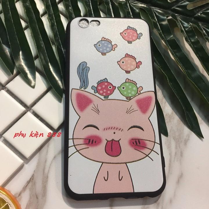 ỐP lưng Iphone 5 6 6Plus 7 7Plus mèo lè lưỡi 5