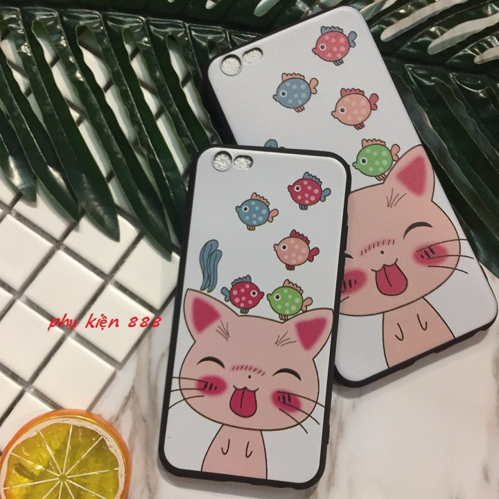 ỐP lưng Iphone 5 6 6Plus 7 7Plus mèo lè lưỡi 1
