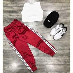 Set áo croptop + quần lụa tt