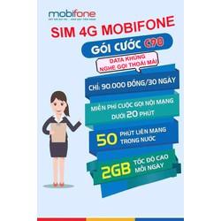 Sim 4G Mobifone gói cước C90