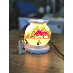 Đèn xông tịnh dầu gốm sứ Bát Tràng