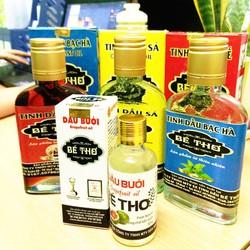 Tinh dầu nguyên chất hương Quế, Bạc Hà, Sả, Bưởi