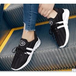 giày thể thao siêu nhẹ 2 màu đen trắng