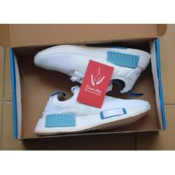 Giày thể thao nữ trắng xanh NMD