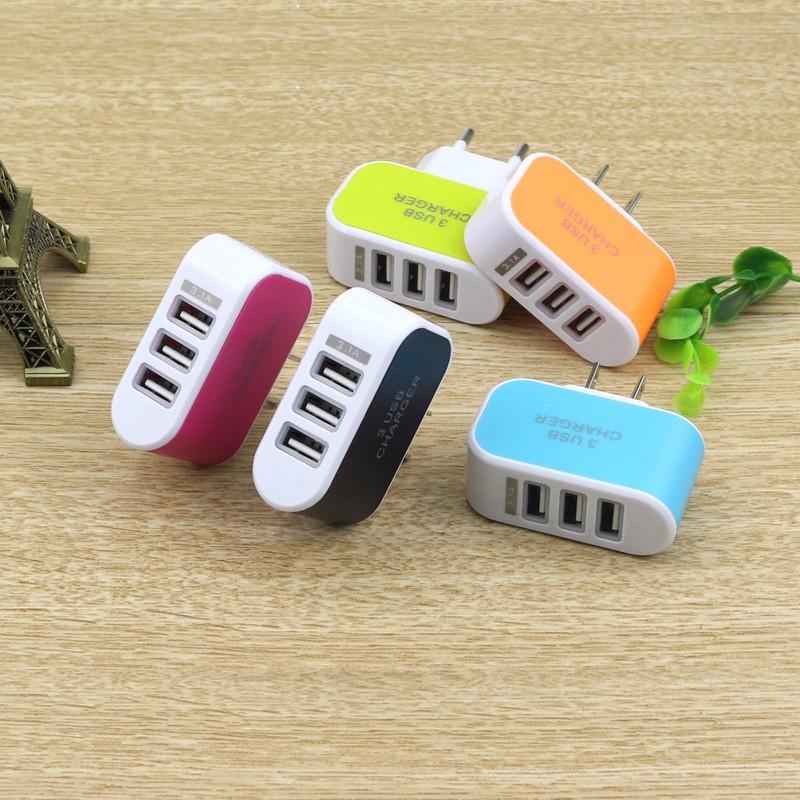 Cốc sạc 3 cổng USB 3.1A tiện ích 1