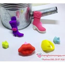 Túi gôm hình giày- môi - chiếc nhẫn