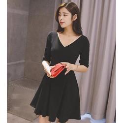 Đầm Xòe Dễ Thương- Màu đen