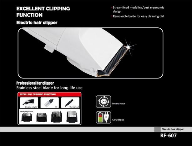 Kết quả hình ảnh cho Tông đơ cắt tóc sokany RF-607